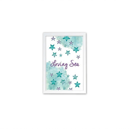 Starfish Colony Print - White frame - Mary Tale