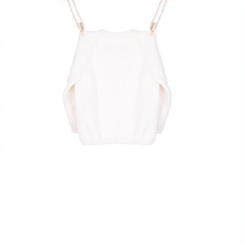 Casaco de Malha Branco - Trás
