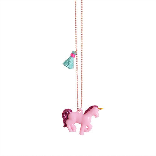 Pink Blue Unicorn Necklace - Mary Tale