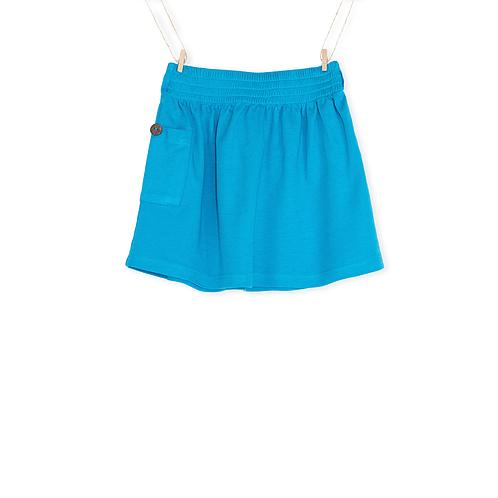 Saia Azul em algodão orgânico Menina - Detalhe