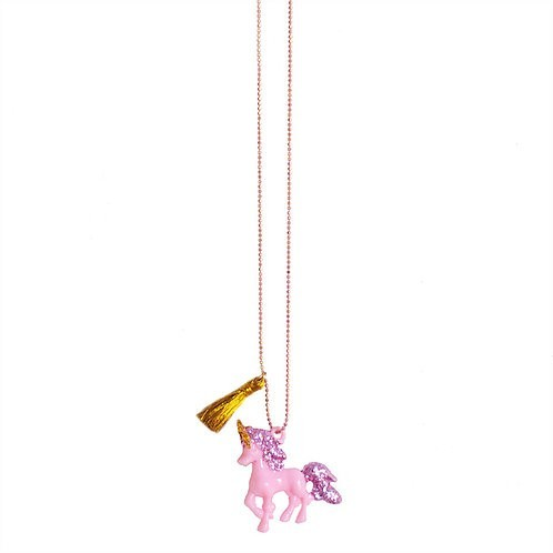 Pink gold Unicorn Necklace - Mary Tale