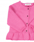 Knitted pink cardigan (detail 1) - Mary Tale