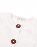 Casaco de Malha Branco - Detalhe