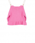 Knitted pink cardigan (back) - Mary Tale