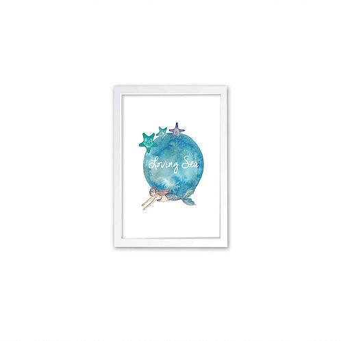 Starfish print - White frame - Mary Tale