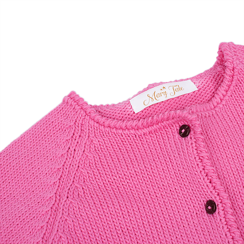 Knitted pink cardigan (detail) - Mary Tale
