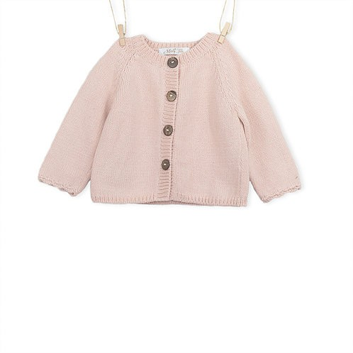Soft pink knitted cardigan - Mary Tale