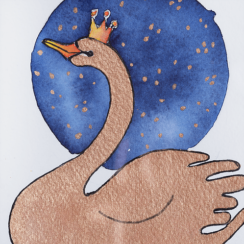Swan watercolor - Mary Tale