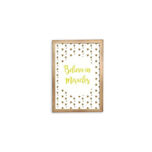 Believe In Miracles Yellow Print - Gold frame - Mary Tale