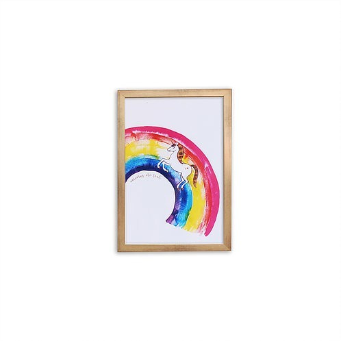 Unicorns are Real print - Gold frame - Mary Tale
