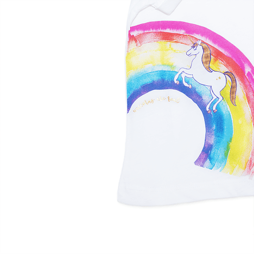 Detail front t-shirt Unicorn - Mary Tale