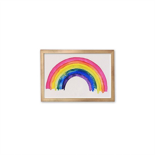 Rainbow watercolor by Isabel Luz - Gold Frame - Mary Tale