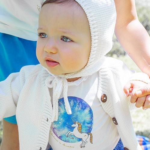 Casaco de Malha Branco - Modelo