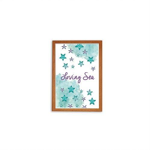 Starfish Colony Print - Wood frame - Mary Tale
