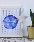 I Believe in Miracles - Blue print with white frame - Mary Tale