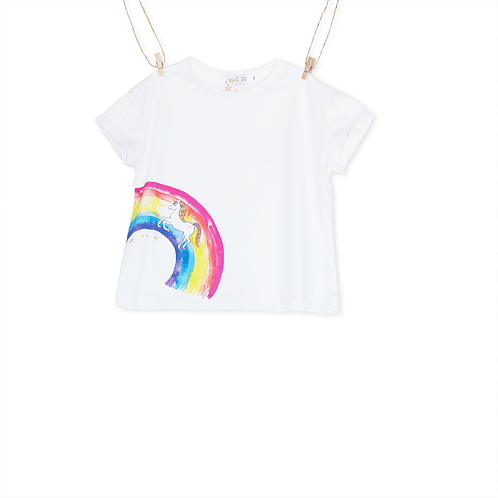 Unicorns are real t-shirts front - Mary Tale