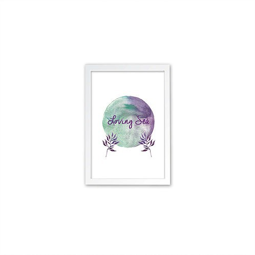 Loving Sea print - White frame - Mary Tale