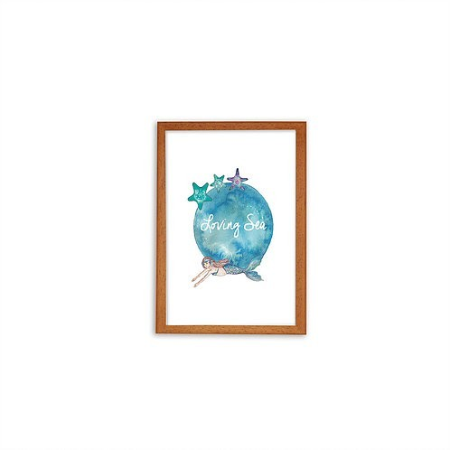 Starfish print - Wood frame - Mary Tale