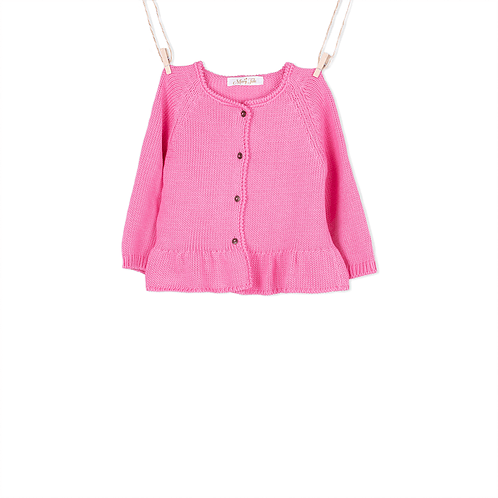 Knitted pink cardigan baby & child - Mary Tale