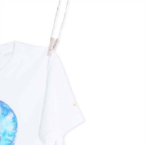 T-Shirt Unicórnio Azul - Detalhe