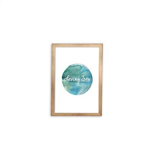 Loving Sea print - Gold frame - Mary Tale