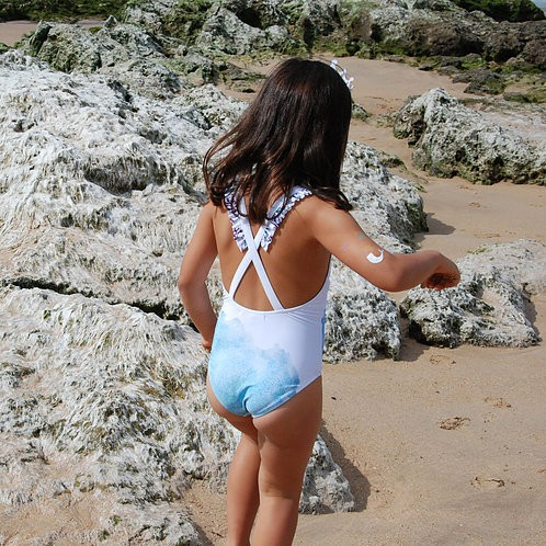 Loving Sea Girl Swimsuit (back)- Mary Tale