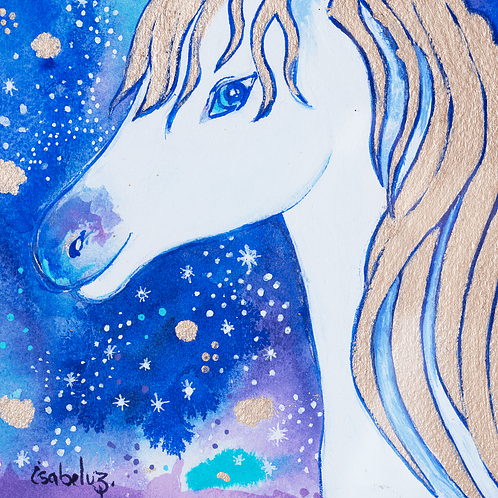 Unicorn Watercolor by Isabel Luz - Mary Tale