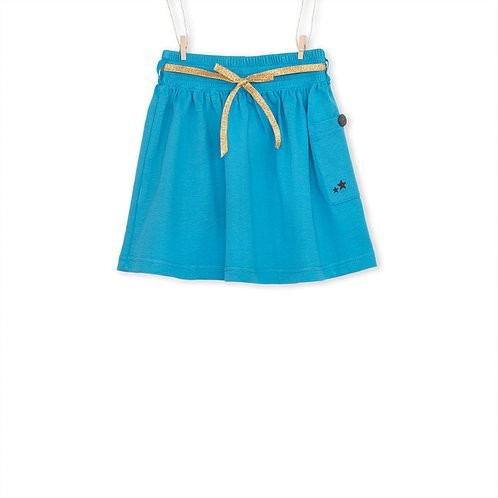 Blue organic skirt front- Mary Tale