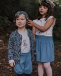 Saia Azul em algodão orgânico Menina - Modelos