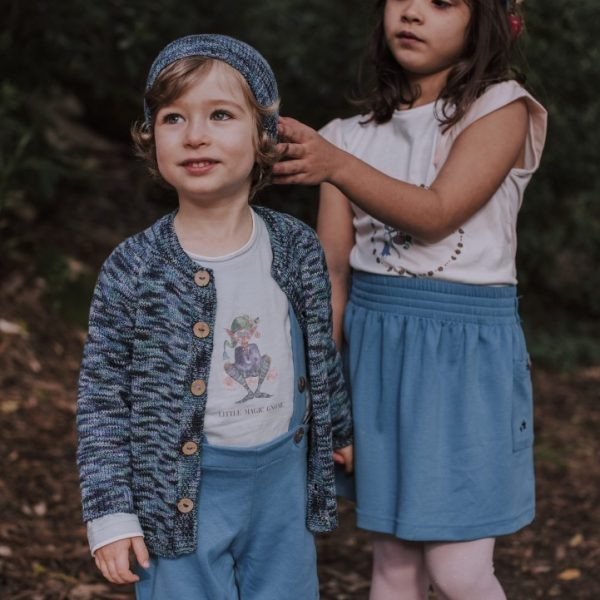 Little boy and little girl wearing The Fairy and the Swan Collection - Mary Tale
