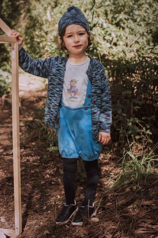 Blue Organic Shorts - Mary Tale