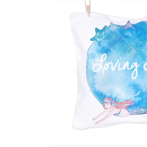 Mermaid Pillow 2 - Loving Sea Collection - Mary Tale
