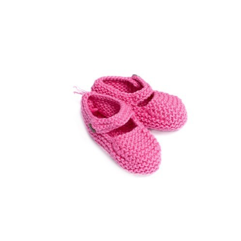Pink Newborn Shoes with coconut button 2 - Mary Tale