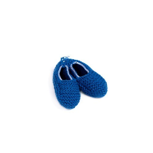 Blue Knitted Newborn Shoes with elastic 2 - Mary Tale