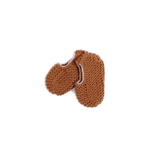 Sapatos recém-nascido camel 2