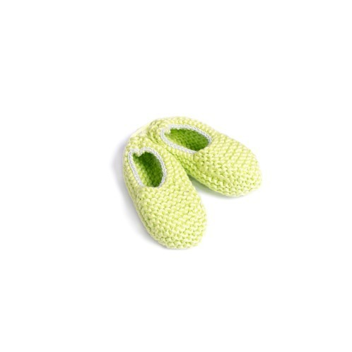 Green Knitted Newborn Shoes with elastic - Mary Tale