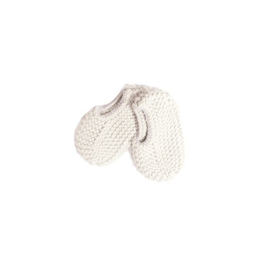 White Knitted elastic Newborn Shoes - Mary Tale